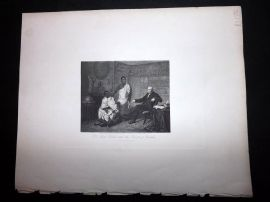 After Robinson 1846 Antique Print. Dr. Adam Clarke and the Priests of Buddha